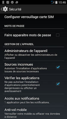 autoriser le téléchargement d applications de sources inconnues