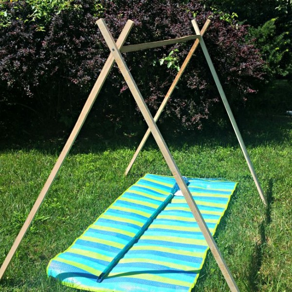 wooden stakes, a-frame, tent ideas