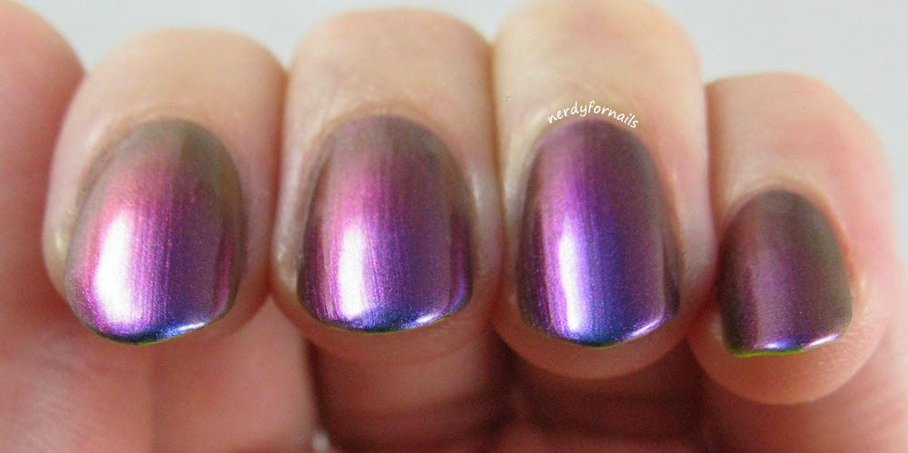 ILNP I Love Nail Polish Birefringence with neon underneath