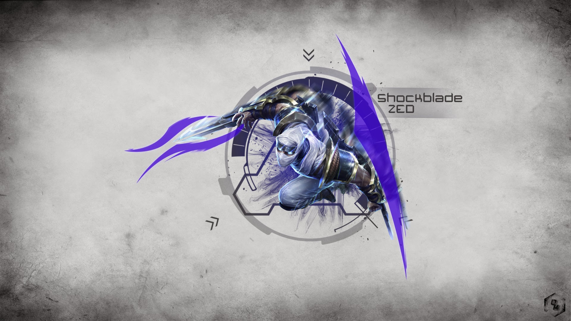 shock blade zed skin league of legends lol champion hd wallpaper ...