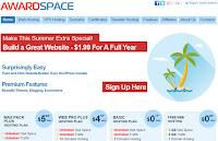 Hosting ilimitado y tráfico ilimitado por sólo US$ 0,17 por mes en AwardSpace