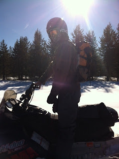 Snowmobiling with the Teton Sports Summit 1500
