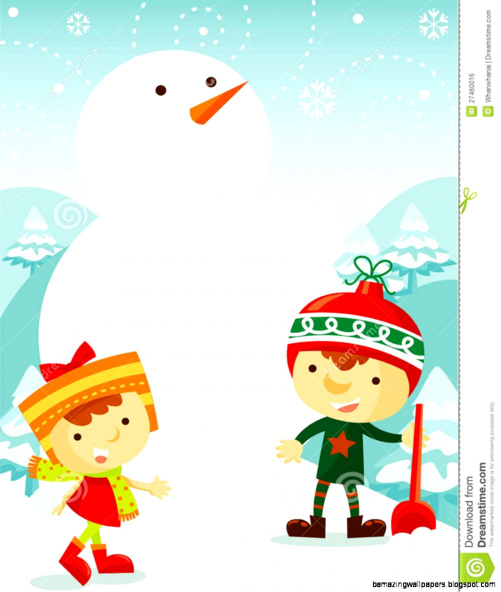 Kids Playing In Snow Clipart Kids Playing With Snow   Clipart Kid