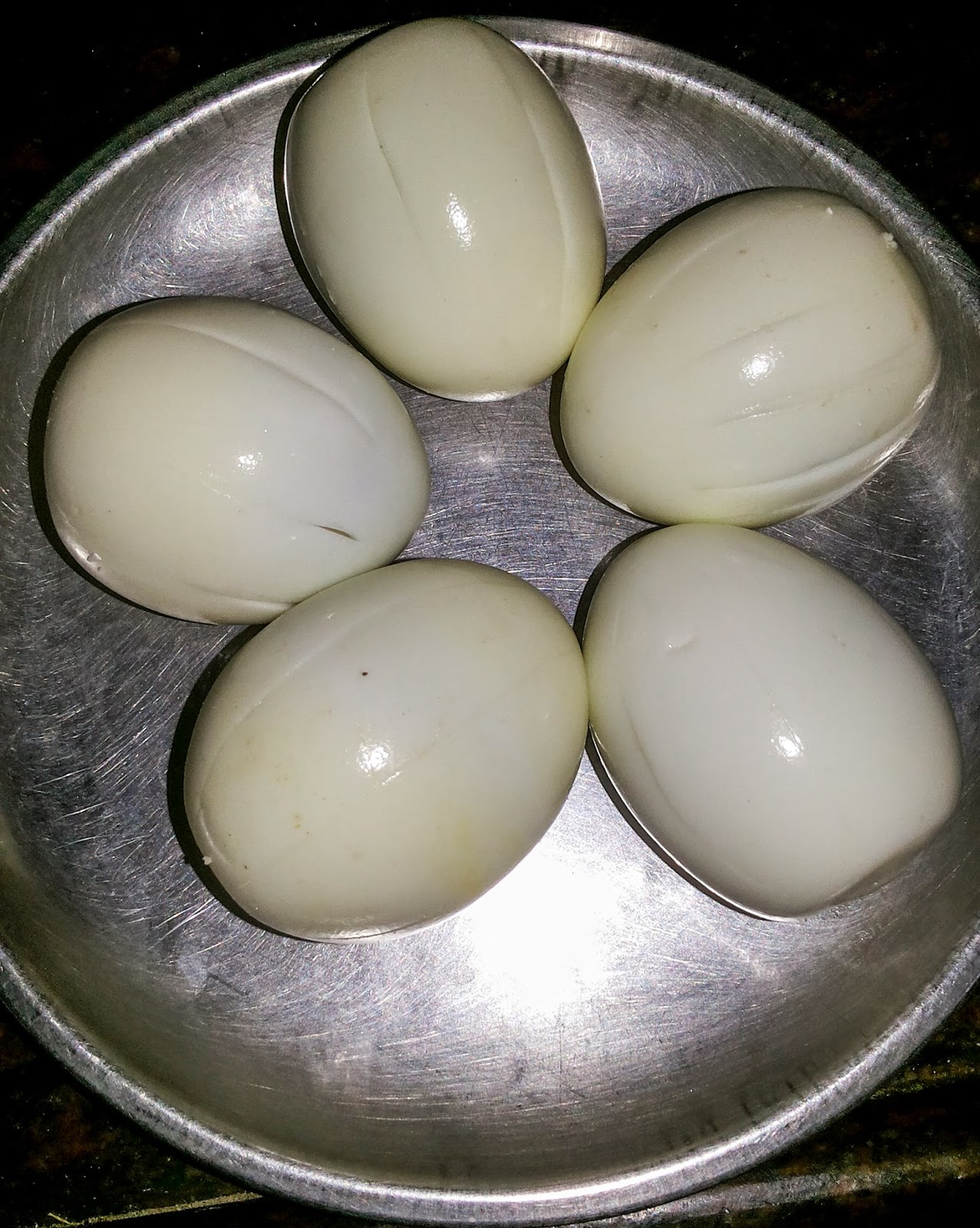 Slit Egg Vertically