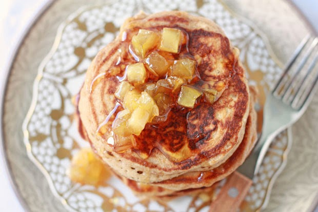 apple maple syrup &  spiced buttermilk pancakes | kitchen heals soul