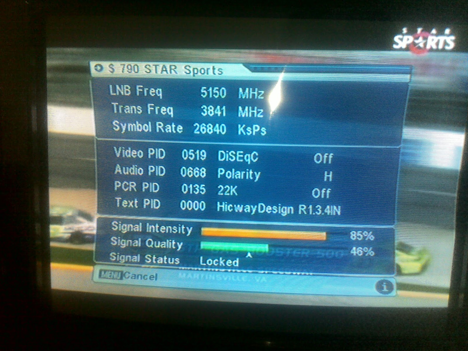 Star Sports BISS channel now FTA on AsiaSat 3S.