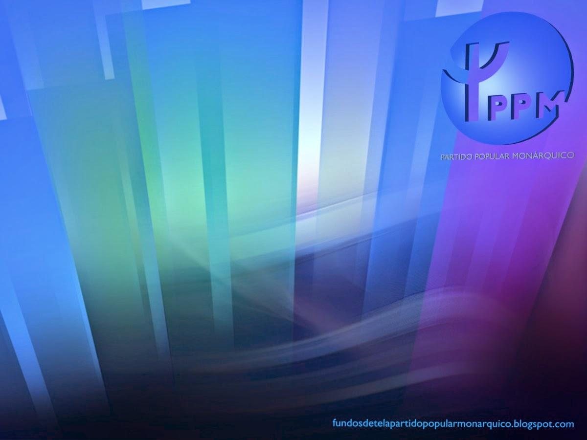 Papel de Parede Wallpaper do Partido Popular Monárquico emblema lateral stencil do PPM para utilizar como fundo de tela Paisagem de Cristal do seu ambiente de trabalho
