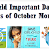 World Important Days Dates of October Month- International General Knowledge