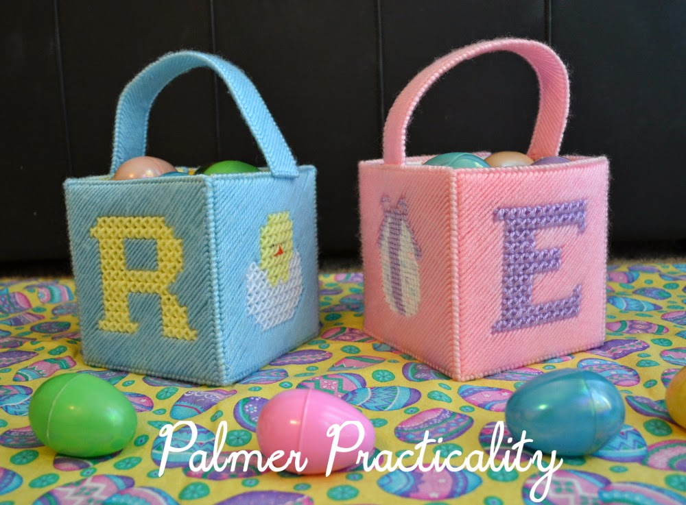 Palmer practicality homemade easter baskets so when i got married i decided to carry on this tradition and made my husband and i our own easter baskets out of plastic canvas negle Image collections