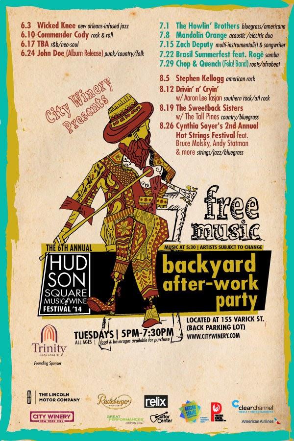 hudson square free concerts