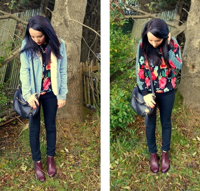 Autumn Outfit Black Skinny Jeans