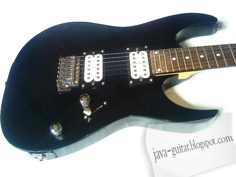 Jual Gitar Elektrik Custom Model Ibanez RG Black