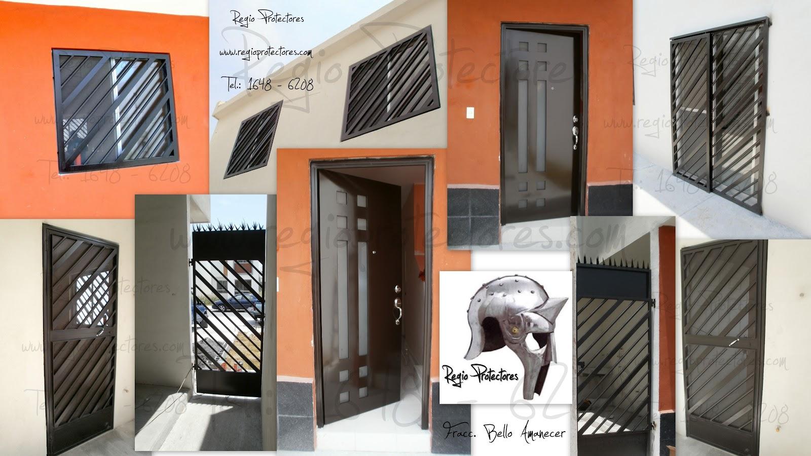 1000 images about proteccion ventanas on pinterest for Modelos de puertas de herreria
