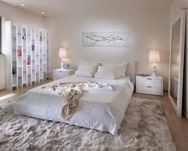 ... : Idées dintérieur maison - Chambre à coucher maître en blanc