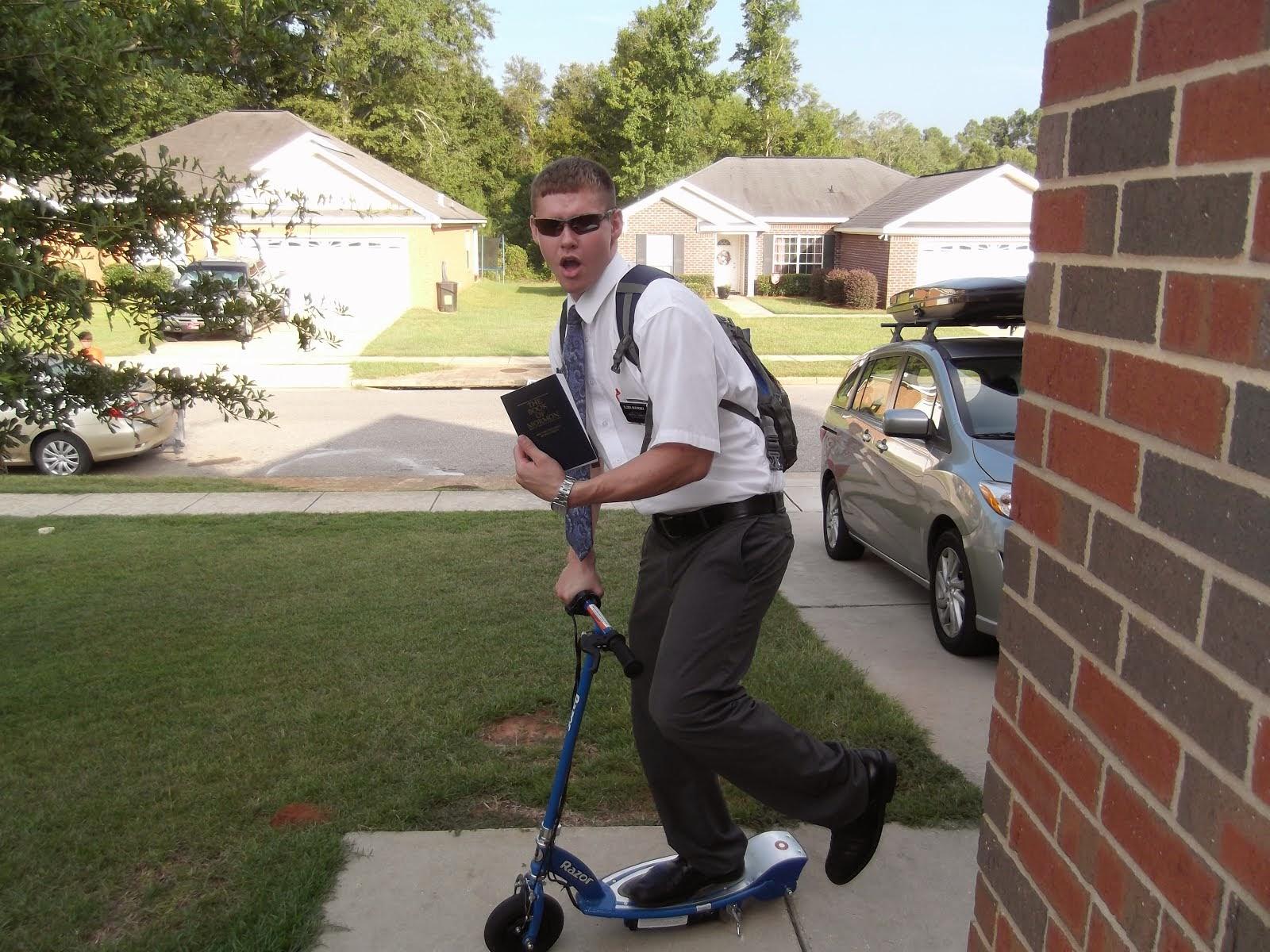 Elder Bochenek rockin the scooter