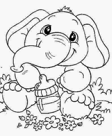 Elefante bebé | Vamos a pintar