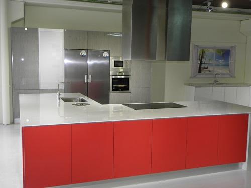 Cocinas lleida mueble de cocina en lleida modelo rojo brillante