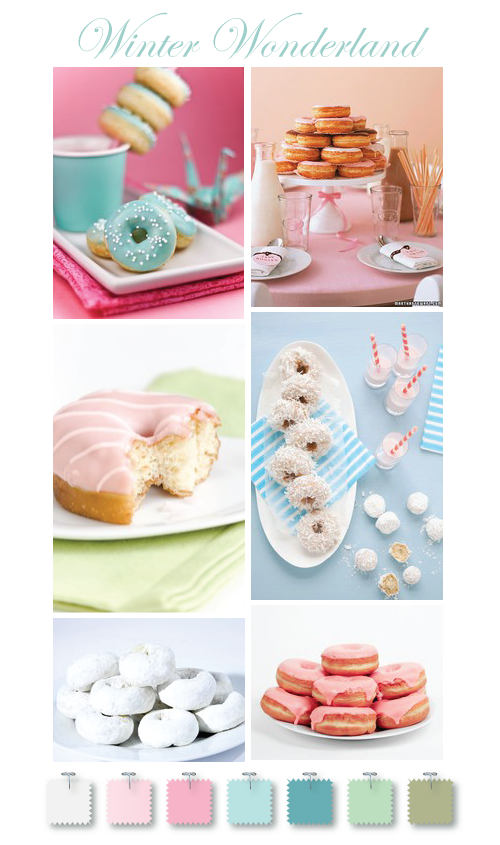 Winter Wonderland mini doughnut inspiration by Torie Jayne