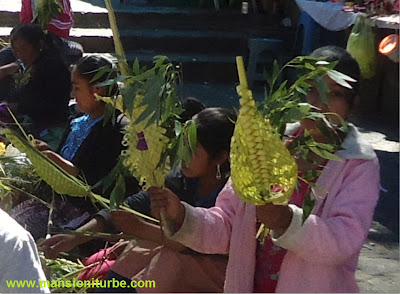 Palm Sunday the beginning of the Holy Week in Patzcuaro
