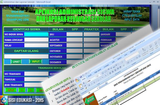 Aplikasi Administrasi Siswa dan Laporan Keuangan Sekolah dengan Microsoft Excel