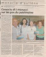 exposition sur les moulins de Monacia par 'Associu d'I Monaci'
