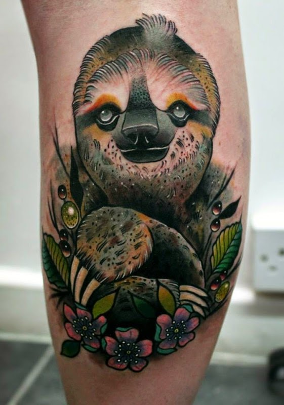 winsols tattoos best 15 relaxing sloth tattoos. Black Bedroom Furniture Sets. Home Design Ideas
