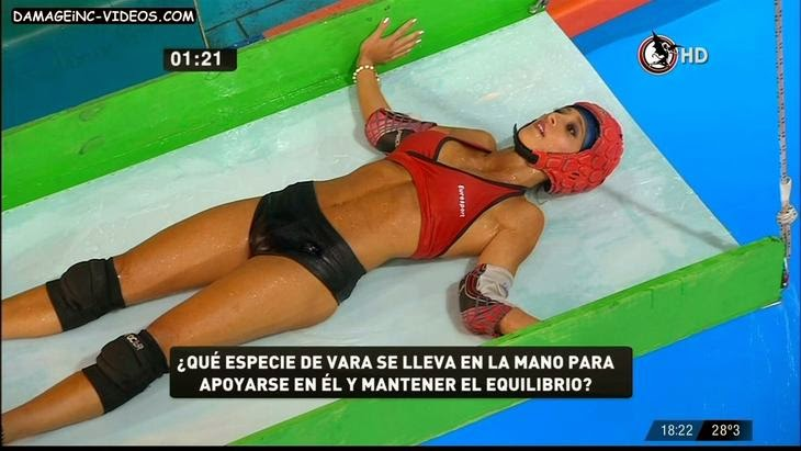 Maria Sol Perez cameltoe in wet shorts HD video