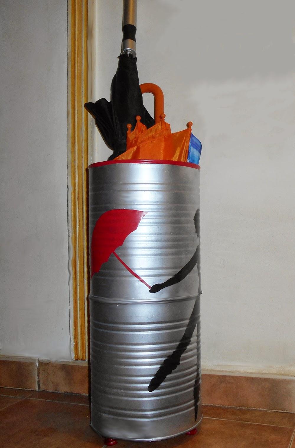 los trucos de julieta latas recicladas en paraguero