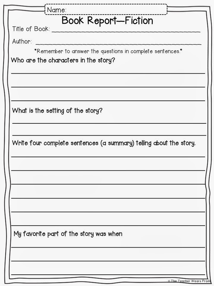 second grade book report questions Non fiction reading response questions what is the selection you read mostly about what did you find interesting about this selection what was.