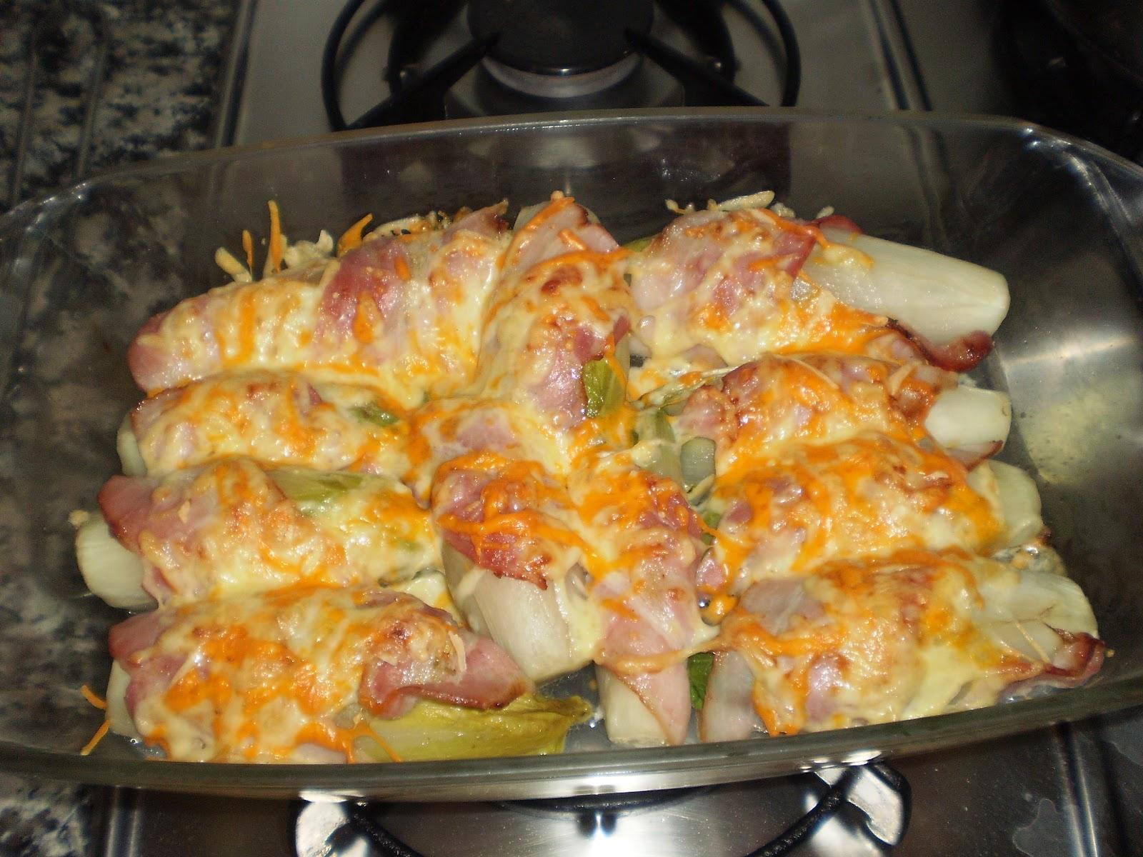 Cocina sin tonterias endivias al horno - Cocina al horno ...