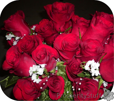 Bridesmaids' Bouquets - Red roses