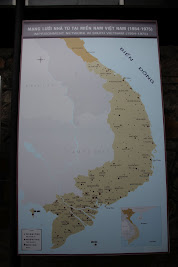 Karte von Gefängnissen in Vietnam