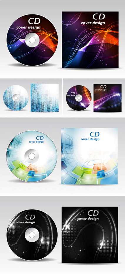 Abstract CD Covers - Vector