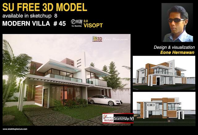 45# sketchup 3 model modern villa by Vanderson Platau