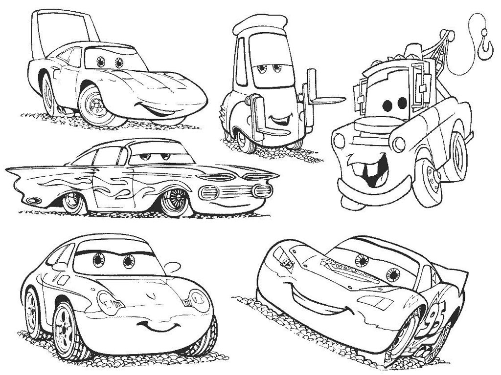 Disney Cars Characters Coloring Pages