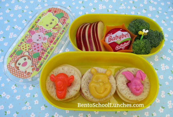 Disney Winnie the Pooh, Piglet, Tigger bento school lunch