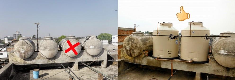 Dinamica en soluciones tinacos asbesto vs tinacos de for Tinacos rotoplas medidas