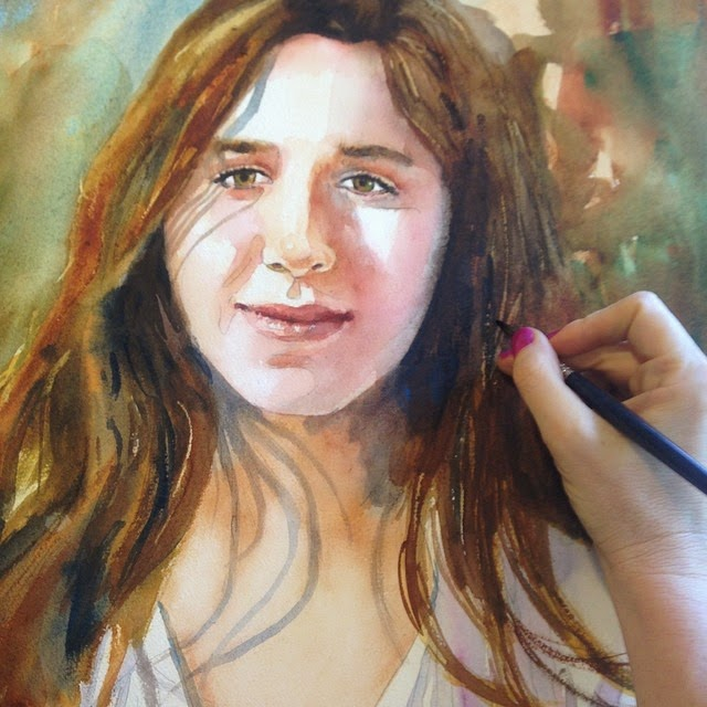 how to paint people with watercolor by schulmanart