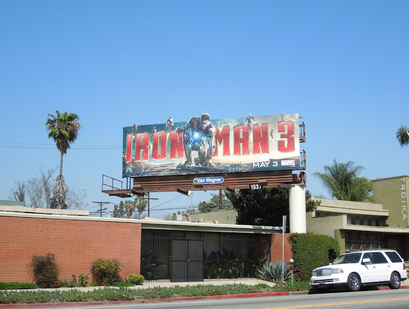 Iron Man 3 movie billboard