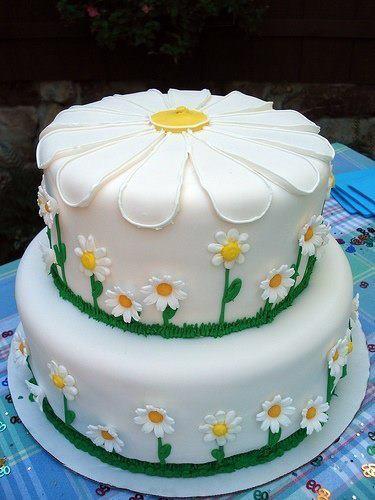 Birthday Cake daisies