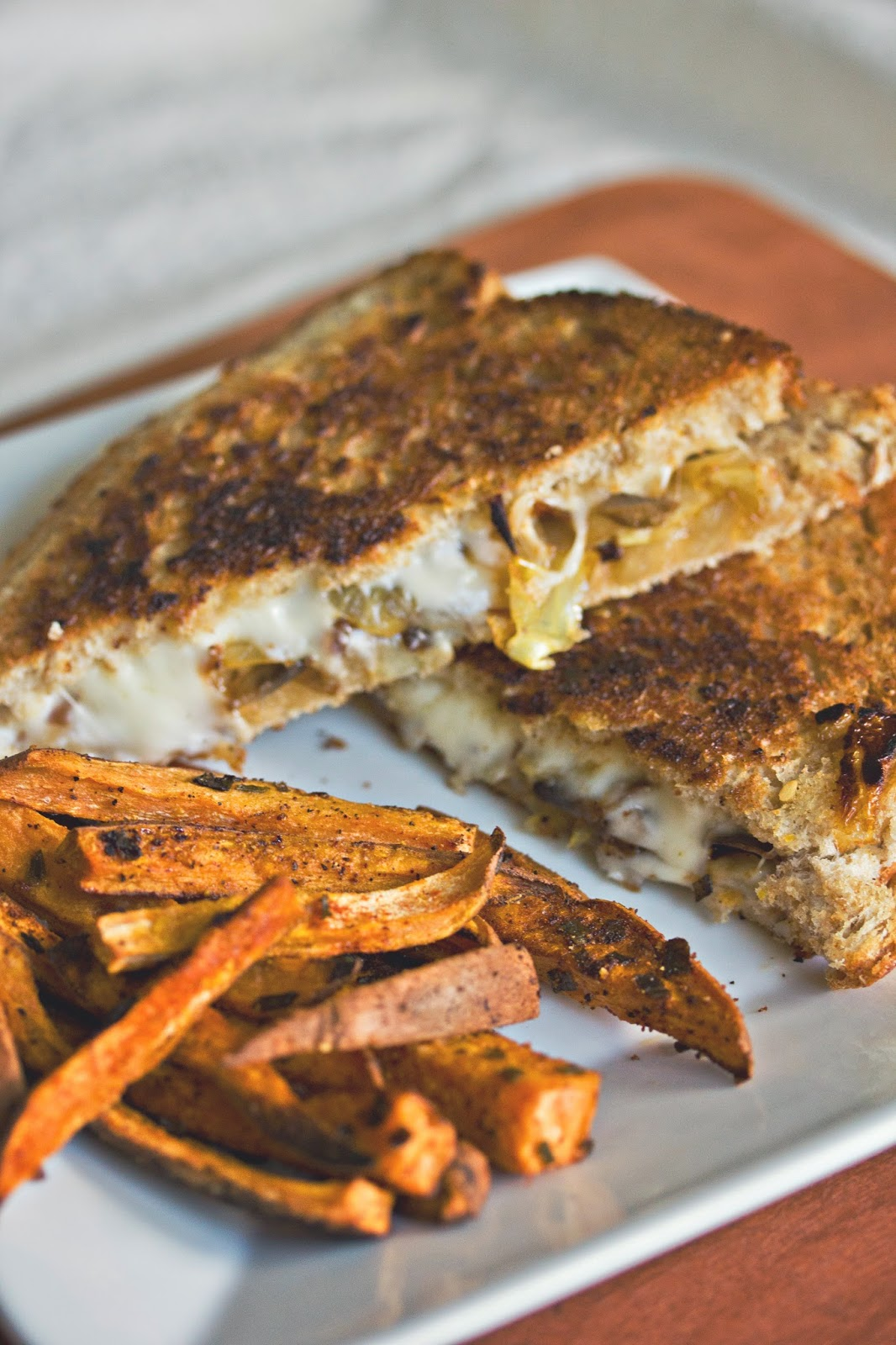 maede.for.you.: Caramelized Onion & Mushroom Grilled ...
