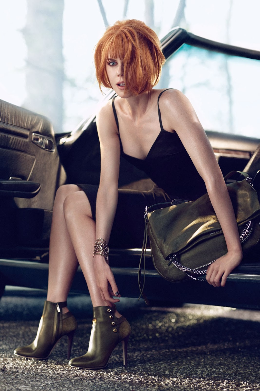 Jimmy Choo Features Nicole Kidman with Mercedes SL