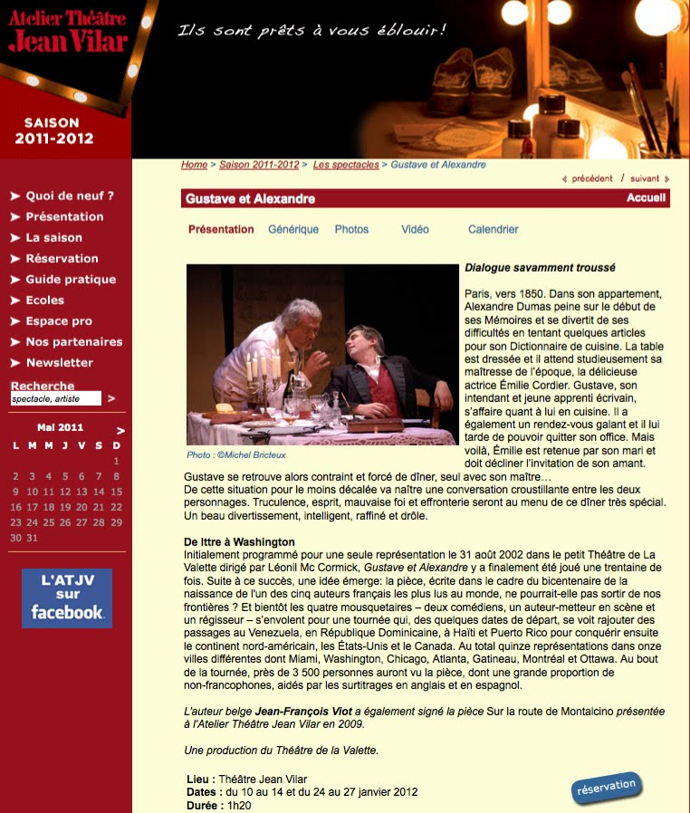 Photos published on Atelier theatre jean vilar website