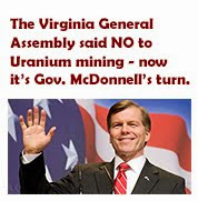 Keep the Uranium Mining Ban: Remind Gov. McDonnell why the ban was not lifted