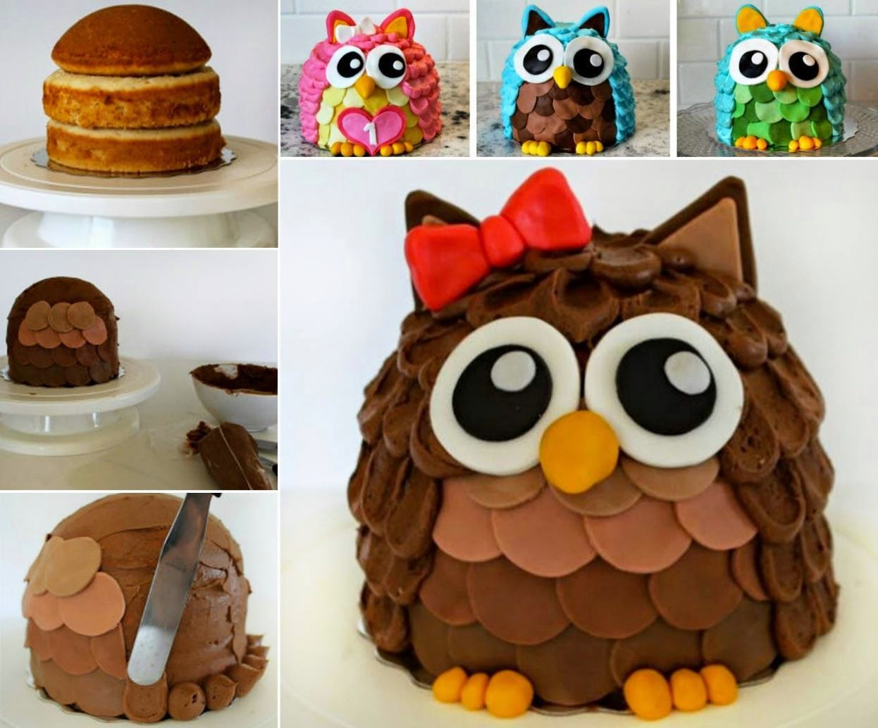 Easy Owl Cake Design : Owl Cake Creative Ideas