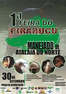 PARTICIPE DA 1a FEIRA DO PIRARUCU MANEJADO DE SÃO RAFAEL