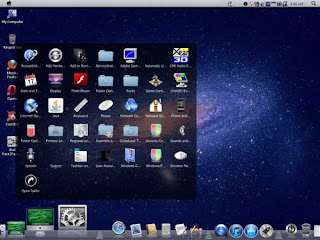 Control panel windows on Apple mac os LION