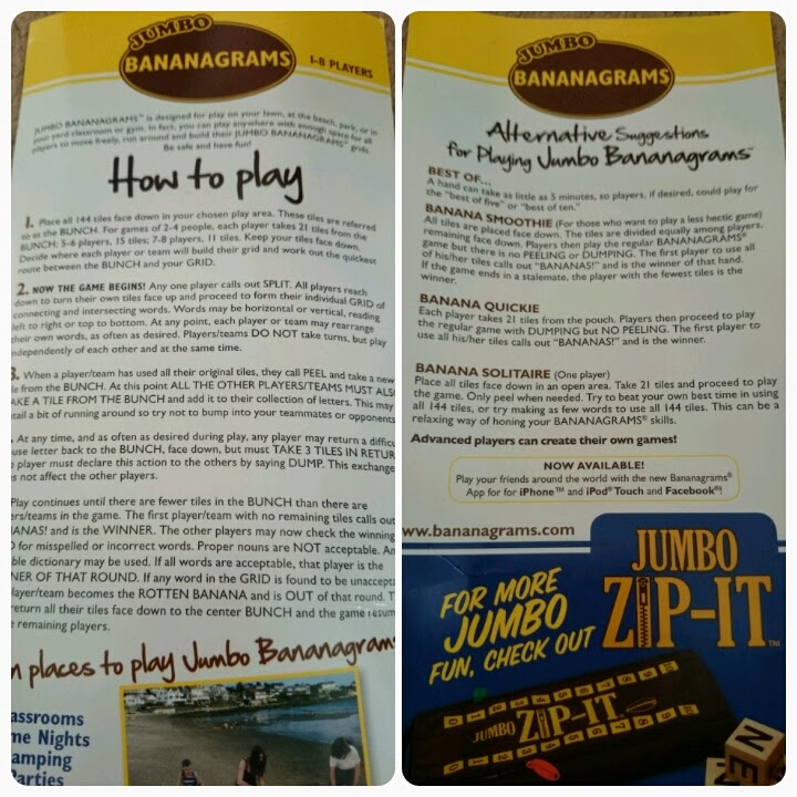 jumbo bananagrams instructions