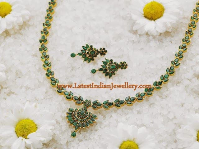 Latest Emerald Necklace Design
