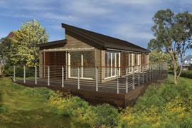 Small scale homes energy efficient folding homes by blu homes for Modern home designs under 200k